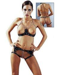 BDSM Γυναικείο σύνολο με σουτιέν και στρινγκ