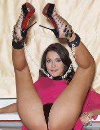 BDSM Περιλαίμιο που ενώνεται με τις χειροπέδες με αλυσίδα 60cm