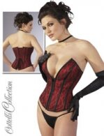 CORSET RED/BLACK