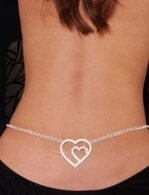 Double Heart Rhinestone and Lower Back