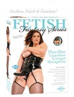 FF PLUS SIZE CROTCHLESS CORSET STRAP ON