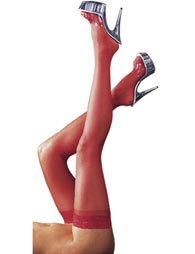 Κόκκινες κάλτσες και με δαντέλα
