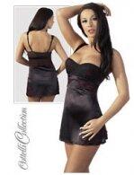 Φόρεμα Σατέν Μαύρο-Κόκκινο