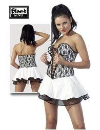 Φόρεμα Βινυλίου Strapless Λευκό