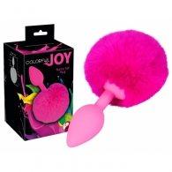 """Σφήνα """"Colorful Joy Bunny Tail"""" φούξια"""