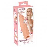 Κάλυμμα πέους Nature Skin Extension Sleeve +3 cm 19.5 cm