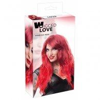 Περούκα Wavy μακρύ μαλλί κόκκινο