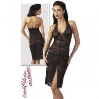 Φόρεμα Διάφανο Μαύρη-Δαντέλα