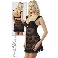 Μαύρο Φόρεμα με Δανδέλα