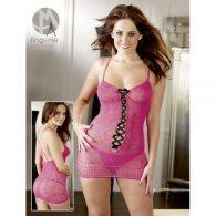 Μίνι Φόρεμα με Στρινγκ ροζ S-L