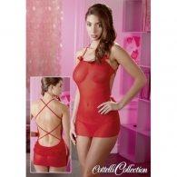 Μίνι Φόρεμα κόκκινο με στρινγκ