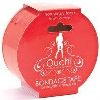 Κόκκινη Αυτοκόλλητη ταινία φαντασιώσεων OUCH! BONDAGE TAPE RED