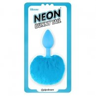 PIPEDREAM NEON BUNNY TAIL BUTTPLUG BLUE