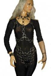 BDSM Γυναικείο ολόσωμο σχέδιο με κρίκους