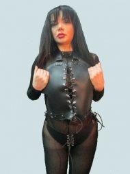 BDSM Γυναικείο σύνολο που περιλαμβάνει ένα γιλέκο και ένα στρινγ