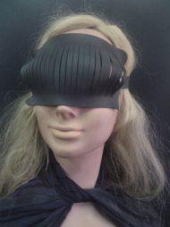 BDSM Μάσκα με παραλληλόγραμμη δερμάτινη επιφάνεια