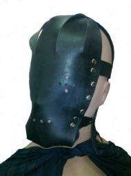 BDSM Δερμάτινη μάσκα με τρύπες στα μάτια και στο στόμα