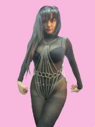 BDSM Γυναικείο κορμάκι που αποτελείται από 9 αλυσίδες