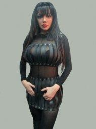 BDSM Γυναικείο σετ που περιλαμβάνει ένα τοπάκι και μια φούστα