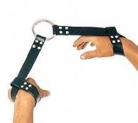 BDSM Δερμάτινες χειροπέδες χεριών ή ποδιών με λουριά 4 cm
