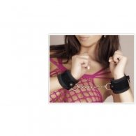 BDSM Δερμάτινες χειροπέδες από διπλό δέρμα 5cm και 3cm