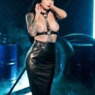 BDSM Δερμάτινο γυναικείο τοπ με περιλαίμιο με κρίκο