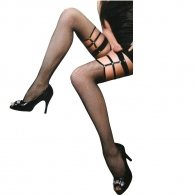 Black net stocking