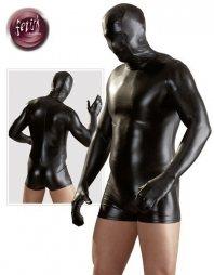 Fetish Collection Skintight Short Suit Phantom in Black