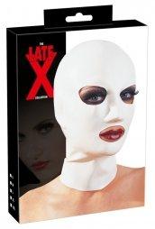 Λευκή Λατέξ Μάσκα κεφαλιού Late X