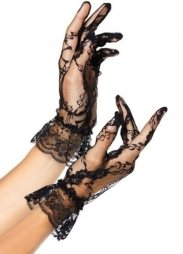 Ruffled Lace Gloves