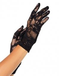 Stretch Lace Wrist Gloves