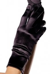 Wrist Lenght Satin Gloves