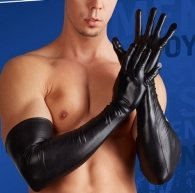 Long Wetlook Gloves