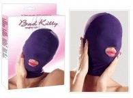 Bad Kitty Velvet Head Mask with Mouth Opening