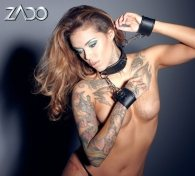 Zado Leather neck and hand cuffs