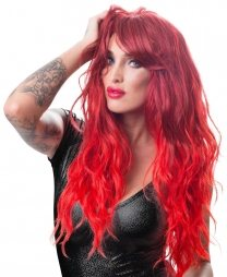 Long Red Wavy Wig