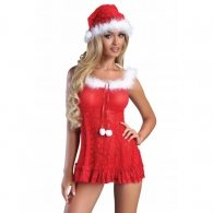 Christmas Bell Mini Dress and Hat Set