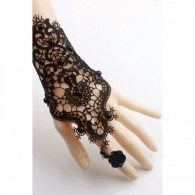 Katida Black Lace Gloves