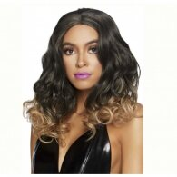 Curly Ombre Long Bob Wig Blond