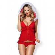 Santa Costume with babydoll and Panties