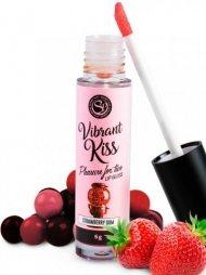 Lip Gloss Vibrant Kiss Flavor Strawberry Gum
