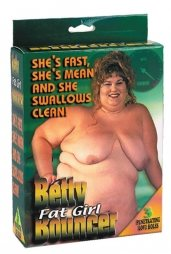 Batty Fat Girl Bouncer Inflatable Doll