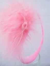 Ροζ γυναικείο c-string με πούπουλα