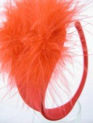 Κόκκινο γυναικείο c-string με πούπουλα