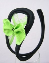C String with green bow