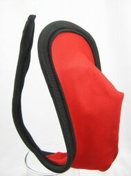 C string for man in black-red colour