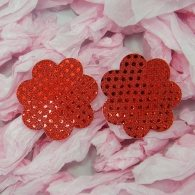 Red Nipple cover in flower shape