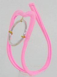 Ροζ γυναικείο c-string με ασημένιο κρίκο