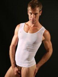 Men's white vest