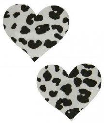 Ασπρόμαυρο κάλυμμα στήθους σε σχήμα καρδιάς Nipple Cover